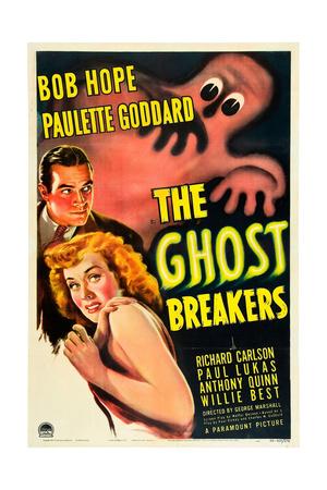 THE GHOST BREAKERS, Bob Hope, Paulette Goddard, 1940 Poster