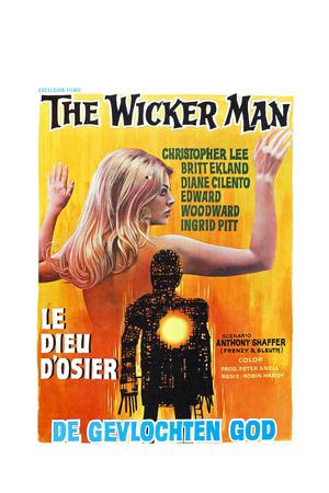 THE WICKER MAN, (aka LE DIEU D'OSIER), Belgian poster, 1973 Print