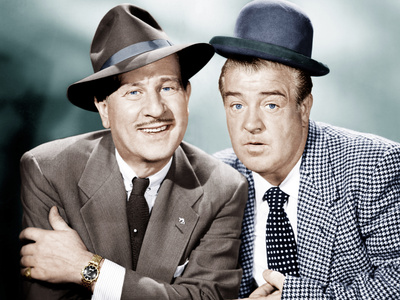 THE ABBOTT AND COSTELLO SHOW, from left: Bud Abbott, Lou Costello, 1952-53 Photo
