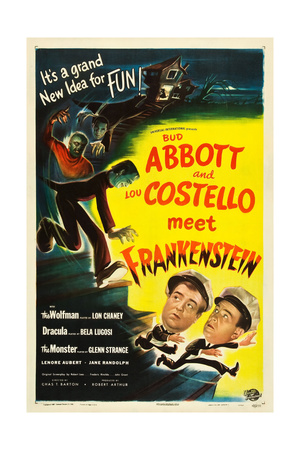 Abbott and Costello Meet Frankenstein, Lou Costello, Bud Abbott, 1948 Prints