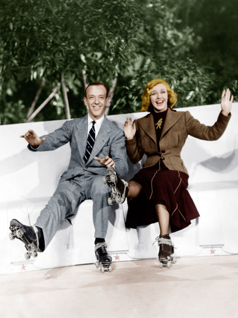 SHALL WE DANCE, from left: Fred Astaire, Ginger Rogers, 1937 Photo