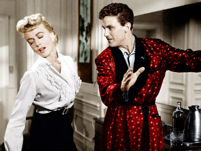WRITTEN ON THE WIND, from left: Dorothy Malone, Robert Stack, 1956 Foto