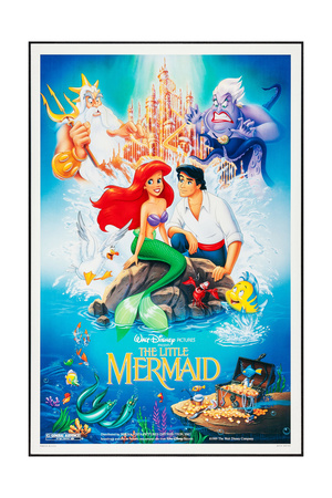 The Little Mermaid Disney cartoon movie poster; one of the greatest Disney films of all time
