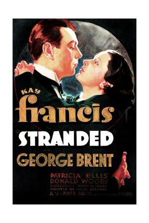 Stranded, US poster art, George Brent, Kay Francis, 1935 Prints