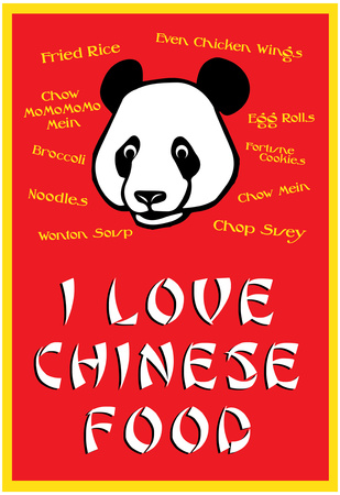 I Love Chinese Food Humor Poster Prints