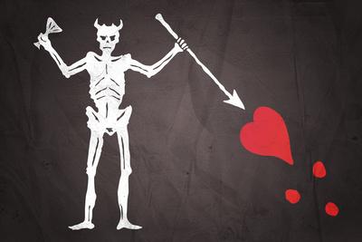 Blackbeard's Pirate Flag Art