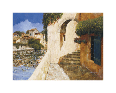View of the Harbor Giclee Print by Gilles Archambault