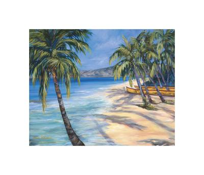 Sugar Beach Giclee Print by Dana Ridenour