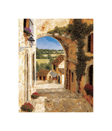 Going Down to the Village Giclee Print by Gilles Archambault