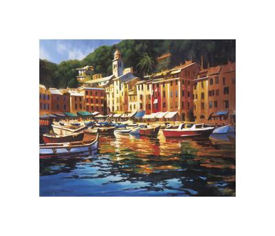 Portofino Colors Giclee Print by Michael O'Toole