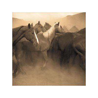 Remuda, Spanish Ranch Giclee Print by Adam Jahiel