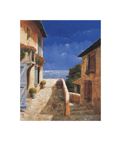 Villa By the Sea Giclee Print by Gilles Archambault