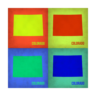 Colorado Pop Art Map 1 Prints by  NaxArt