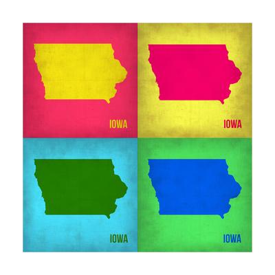 Iowa Pop Art Map 1 Prints by  NaxArt