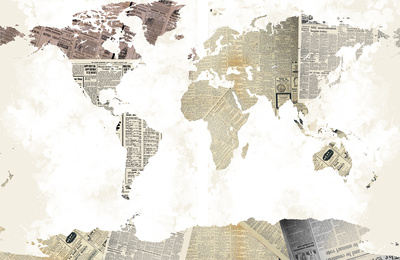 World Map I Posters