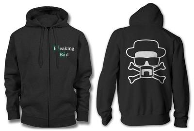 Zip Hoodie: Breaking Bad - Heisenberg and Crossbones Zip Hoodie