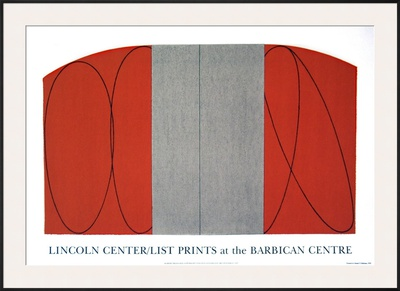 Red/Gray Zone Print by Robert Mangold