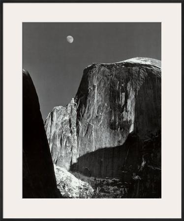 Moon and Half Dome, Yosemite National Park, 1960 Prints by Ansel Adams
