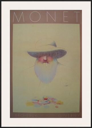 Homage a Monet Print by Milton Glaser