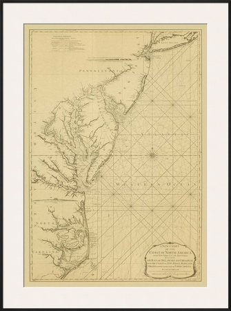 Coastal Chart of the East Coast Posters by Captain N. Holland