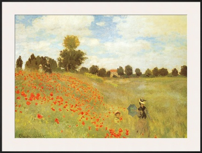 Field of Poppies, c.1886 Print by Claude Monet
