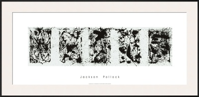 Black and White Polyptych Posters by Jackson Pollock