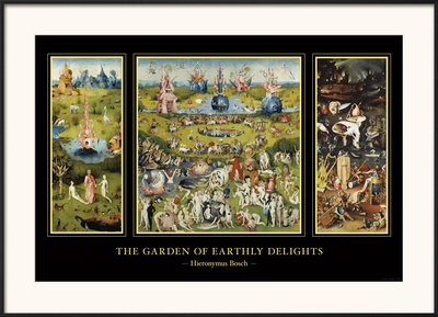 The Garden of Earthly Delights, c.1504 Art by Hieronymus Bosch