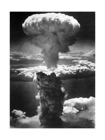 Atomic Burst Over Nagasaki, 1945 Giclee Print by us National Archives