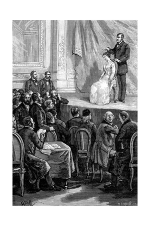 Hypnosis Demonstration, 19th Century Giclee Print by Science Photo Library
