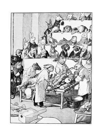 Medical Vivisection, Satirical Artwork Giclee Print by Science Photo Library