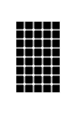 Scintillating Grid Illusion Giclee Print by Science Photo Library