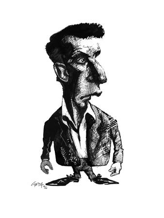 Ludwig Wittgenstein, Caricature Giclee Print by Gary Gastrolab