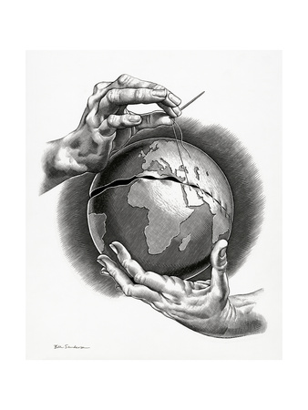Healing the World, Conceptual Artwork Giclee Print by Bill Sanderson