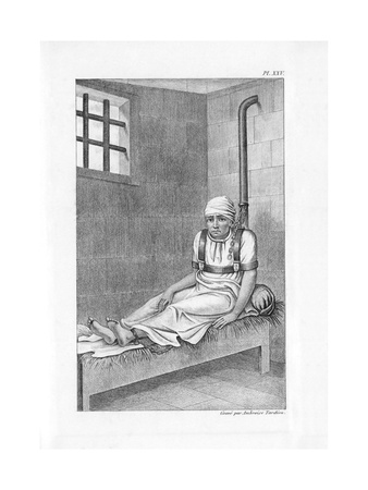 Psychiatric Patient, 19th Century Giclee Print by King's College