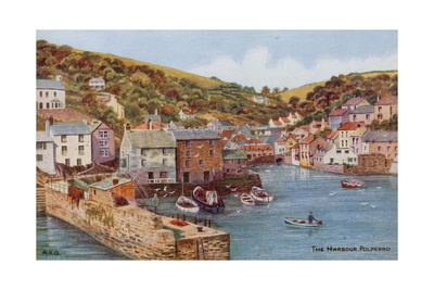 The Harbour, Polperro Giclee Print by Alfred Robert Quinton