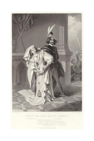 Hotspur and Lady Percy, King Henry IV, Part I, Act II, Scene III Giclee Print