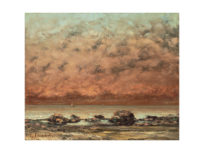 The Black Rocks at Trouville, 1865- 66 Giclee Print by Gustave Courbet