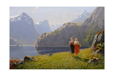 Summer Day at Balestrand Bridgeman Library summer scenes fine art poster