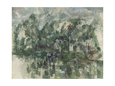 At the Water's Edge, C. 1890 Giclee Print by Paul Cézanne
