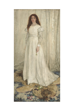 Symphony in White, No. 1: the White Girl, 1862 Giclee Print by James Abbott McNeill Whistler