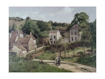 The Hermitage at Pontoise, C.1867 Giclee Print by Camille Pissarro
