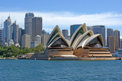 A View of the Sydney Opera House from the Harbour, Sydney, New South Wales Photographic Print