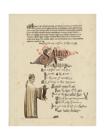 Illustrated Poem About a Saint and a Bishop Who Would Set a Rat Free from the Jaws of the Cat Giclee Print