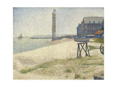 The Lighthouse at Honfleur, 1886 Giclee Print by Georges Seurat