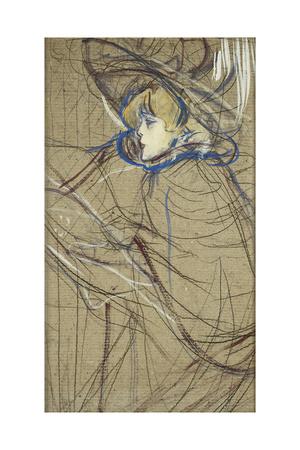 Profile of Woman: Jane Avril; Profil De Femme: Jane Avril, 1893 Giclee Print by Henri de Toulouse-Lautrec