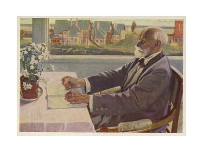 Ivan Pavlov, Russian Physiologist Giclee Print by Mikhail Vasilievich Nesterov