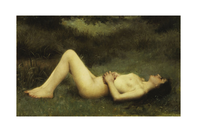 Reclining Nude Giclee Print by Louis Courtat