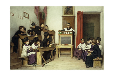 The Latin Class, 1869 Giclee Print by Ludwig Passini