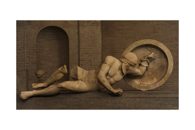 East Pediment's Group of the Temple of Aegina. Ca. 490 BC Giclee Print