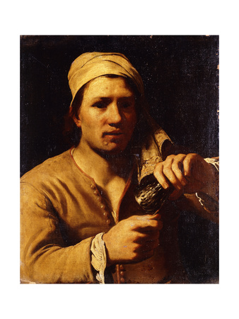 A Young Man in a Turban Holding a Roemer: the Fingernail Test Giclee Print by Michael Sweerts